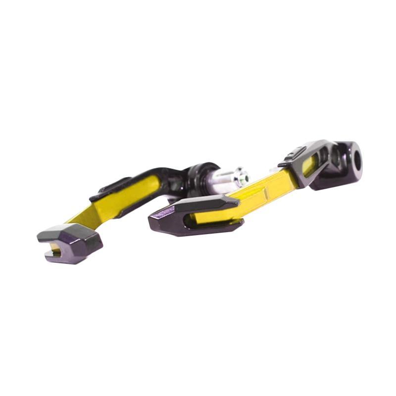 Raja Motor Decker Handguard Proguard CNC Miring Aksesoris Motor - Gold