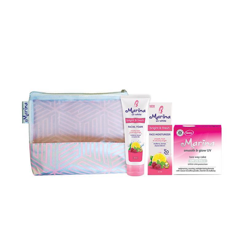 Marina Paket 123 Glow Set Perawatan Wajah Peach