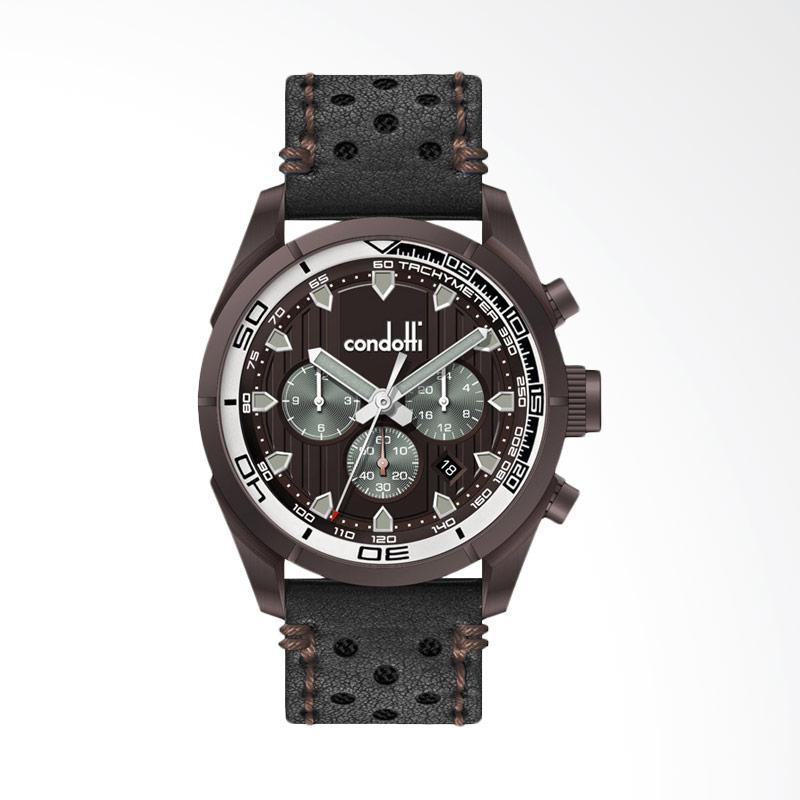 Condotti CN1031 Leather Jam Tangan - Brown BR05-L03