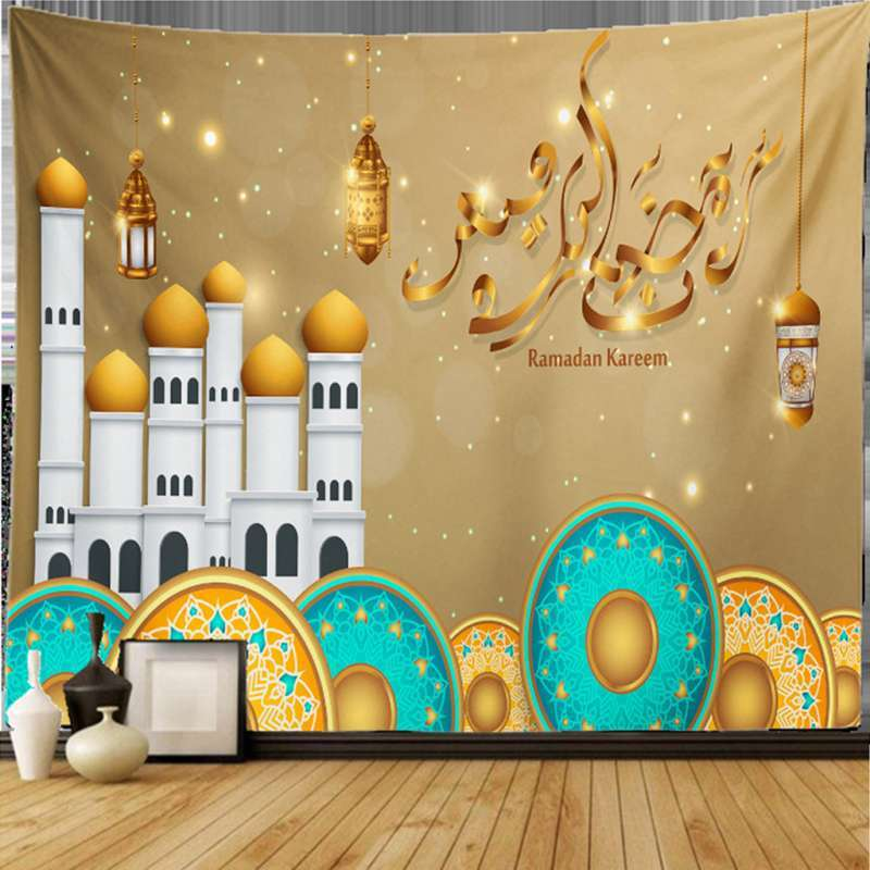 Jual Tapestry Eid Mubarak Wall Hanging Decoration Ornaments Dorm Living Room D 150x100cm Online Mei 2021 Blibli