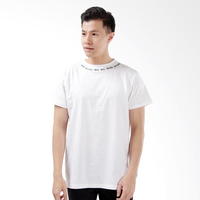 Word.O Kind People T-shirt Pria - Putih