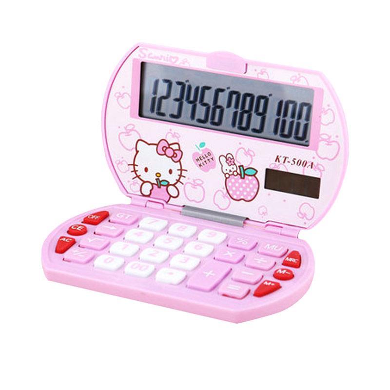 Sanrio KT-500A Hello Kitty Kalkulator - Light Pink