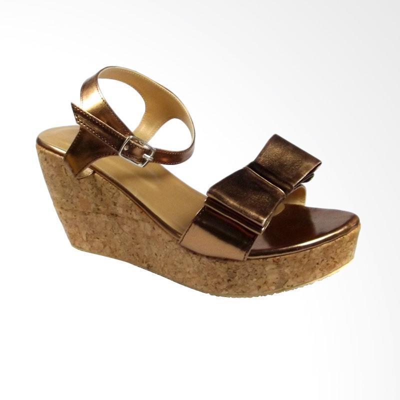 harga Beauty Shoes BE 929 Wedges - Coklat Blibli.com