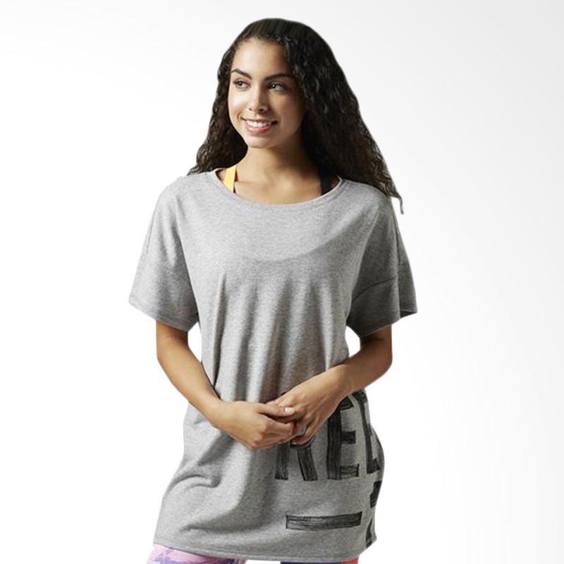 Reebok Studio Faves S/S Women's Tee Kaos Olahraga Wanita - Grey B45986
