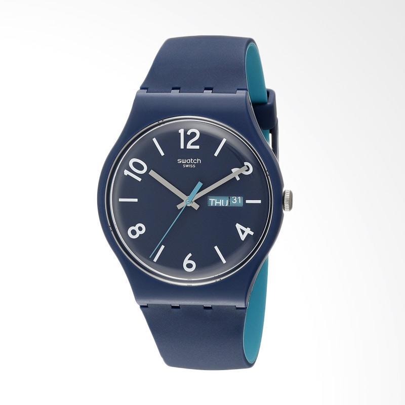 Swatch Backup Blue Jam Tangan Pria - Biru SUON705