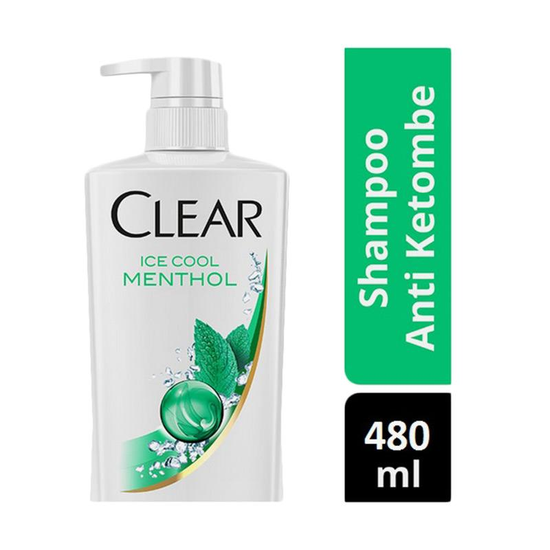 CLEAR Anti Ketombe Ice Cool Menthol Shampoo [480mL]