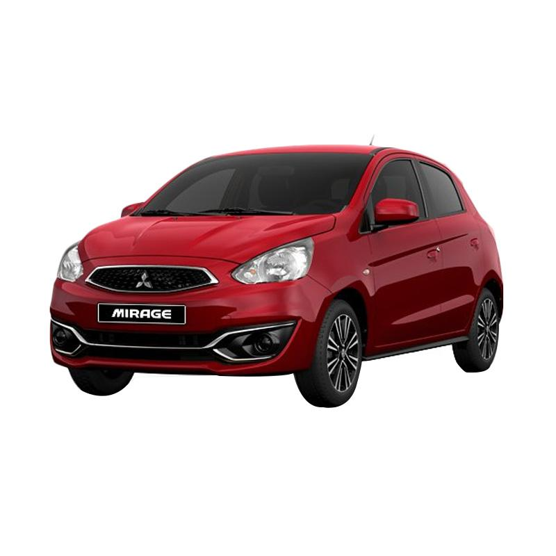 Mitsubishi New Mirage 1 2 GLX 4x2 Mobil Red Metallic