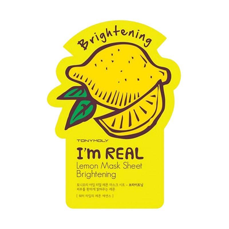 Tony Moly I`m Real Mask Sheet Brightening Masker Wajah - Lemon [21 mL]