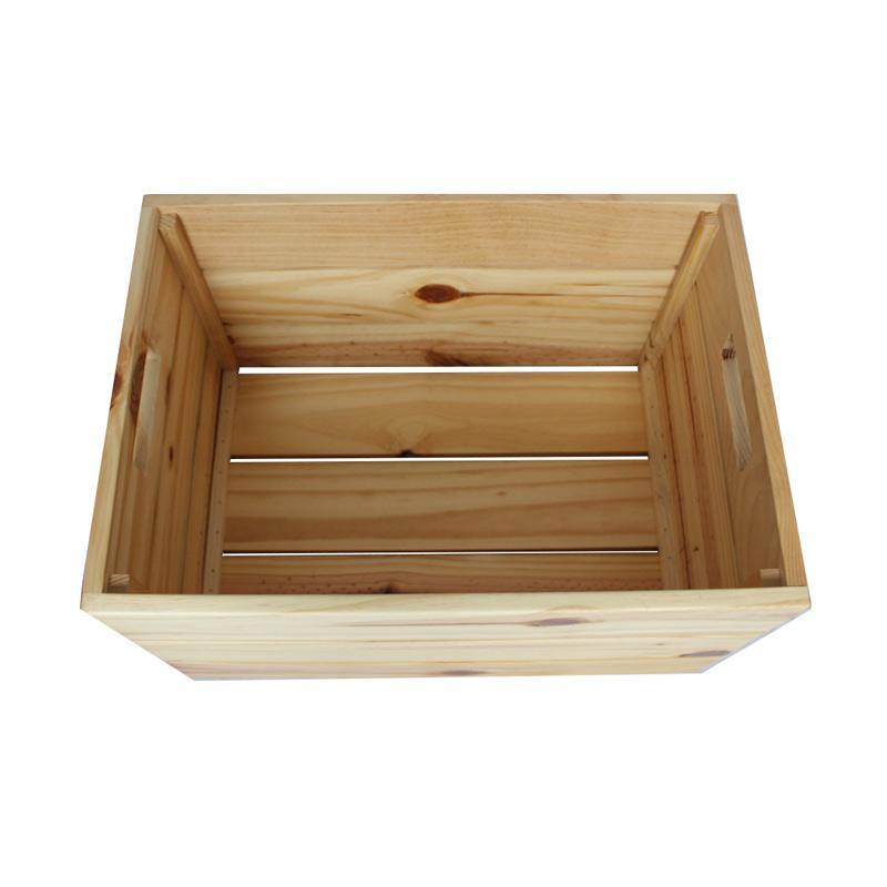 Wooden Portable Storage Box Penyimpanan Serbaguna