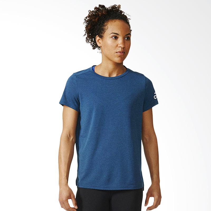 adidas Climachill Women's Tee Kaos Olahraga Wanita - Blue Navy AX8744