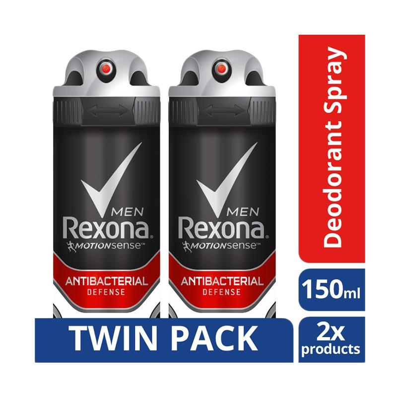 Rexona Men Anti-Perspirant Antibact Defense Deodorant [150 mL/Twin Pack]