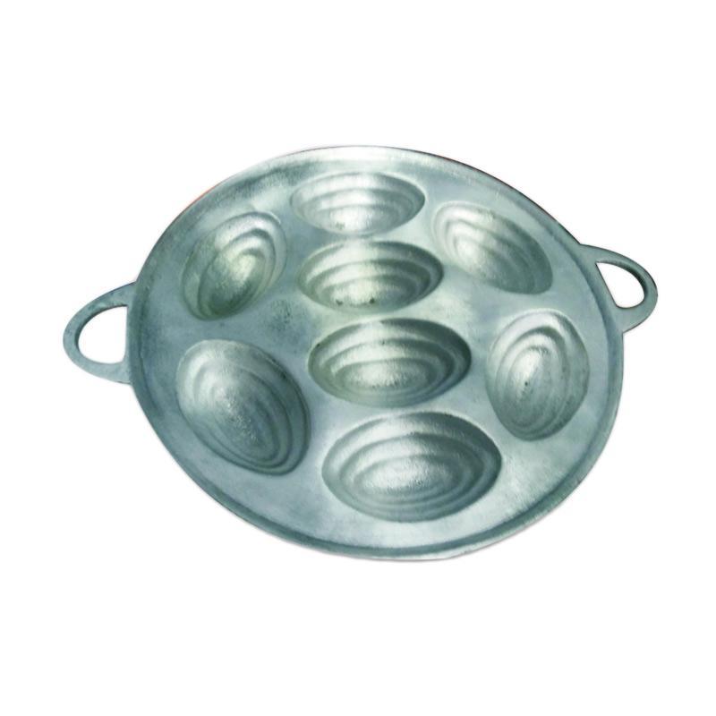 Teknomesin Universal Cetakan Kue Cubit Oval - Silver