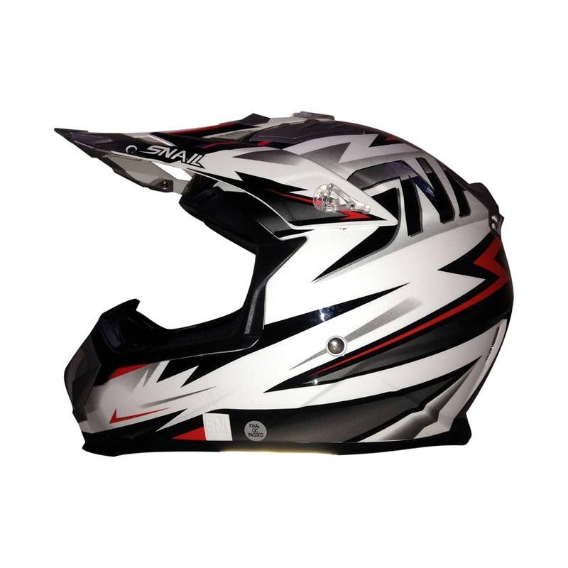 harga HELM SNAIL 315 White Motif Helm Cross Blibli.com