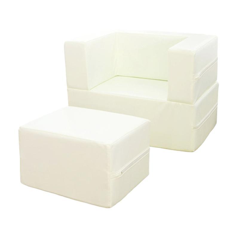 Foldaway Arm Chair - White