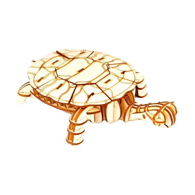 Robotime DIY Turtle TG275 3D Laser Wooden Puzzle - Brown