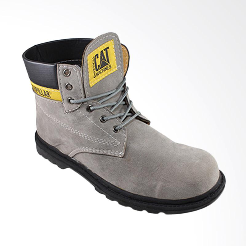 Caterpillar Safety Boots Outdoor Suede Leather Sepatu Pria - Abu
