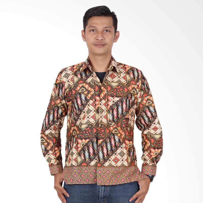 Batik Putri Ayu Solo Kemeja Batik Pria - Cokelat KPJ202