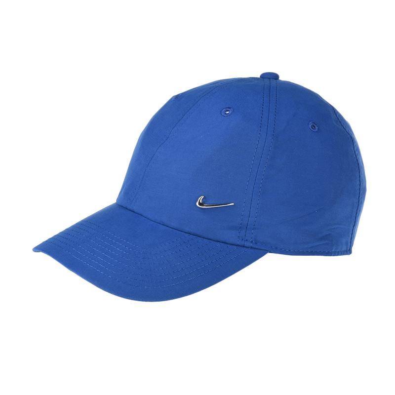 harga NIKE Unisex Nsw H86 Metal Swoosh Topi Olahraga - Blue [340225-431] Blibli.com