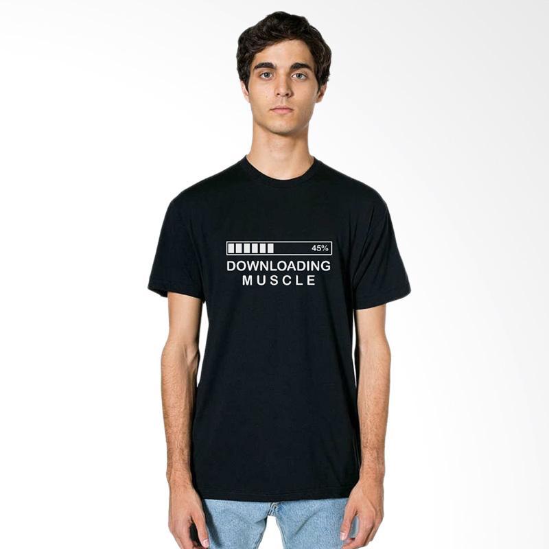 FRAW T-Shirt Kaos Pria - Black 28-17