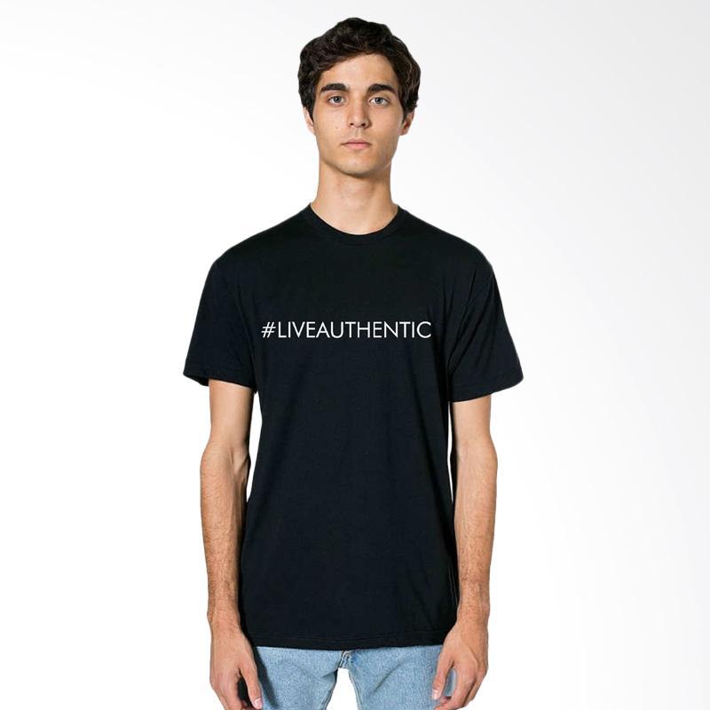 FRAW T-shirt Kaos Pria - Black 15-17