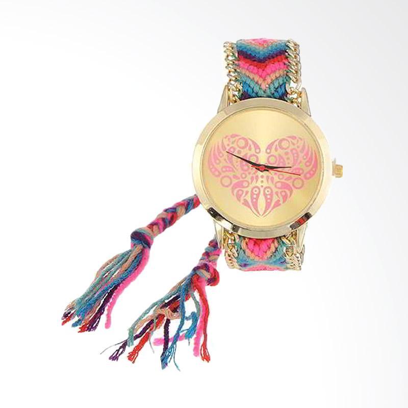 harga CANNICE Rajut Heart Shape Pattern Jam Tangan Wanita - Rainbow Blibli.com