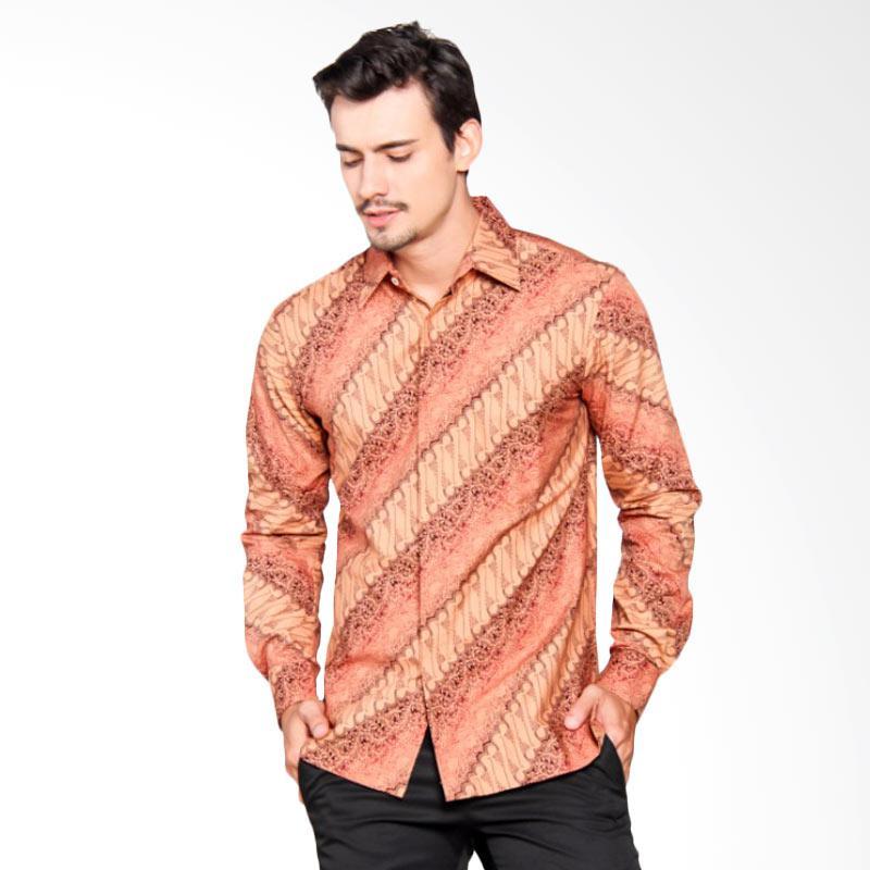 Batik Heritage Katun Lereng Warna Slim Fit Kemeja Batik Pria - Salem