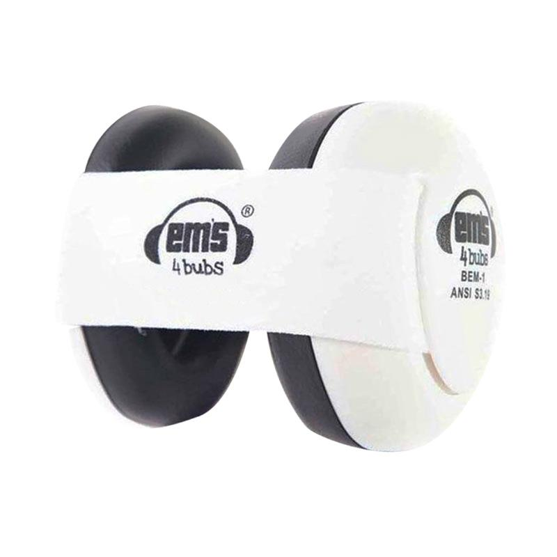 Em's 4 Bubs Baby Earmuff Hearing Protection - White