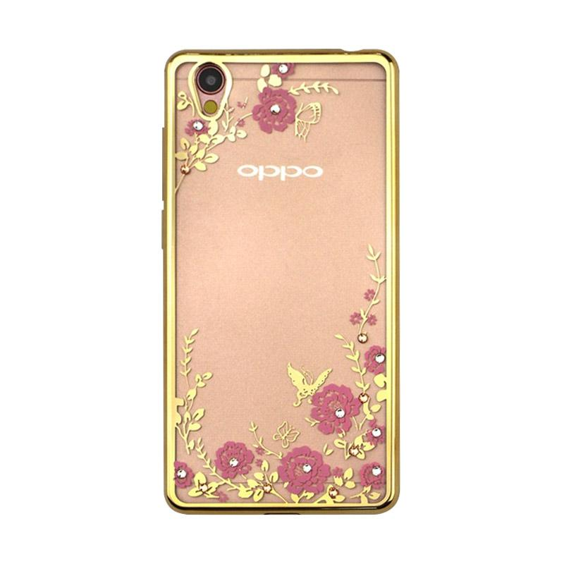 OEM Luxury Secret Garden Electroplating Casing for Oppo A37 or Neo 9 - Gold