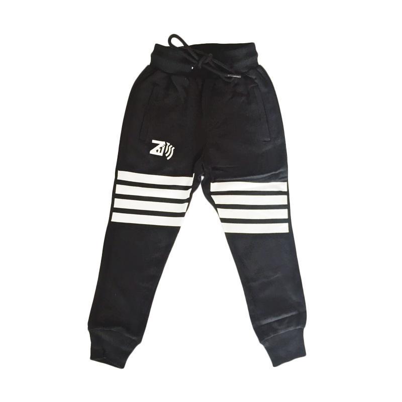 Childhood Apparel Zebra Crossing Track Pants Celana Anak - Black