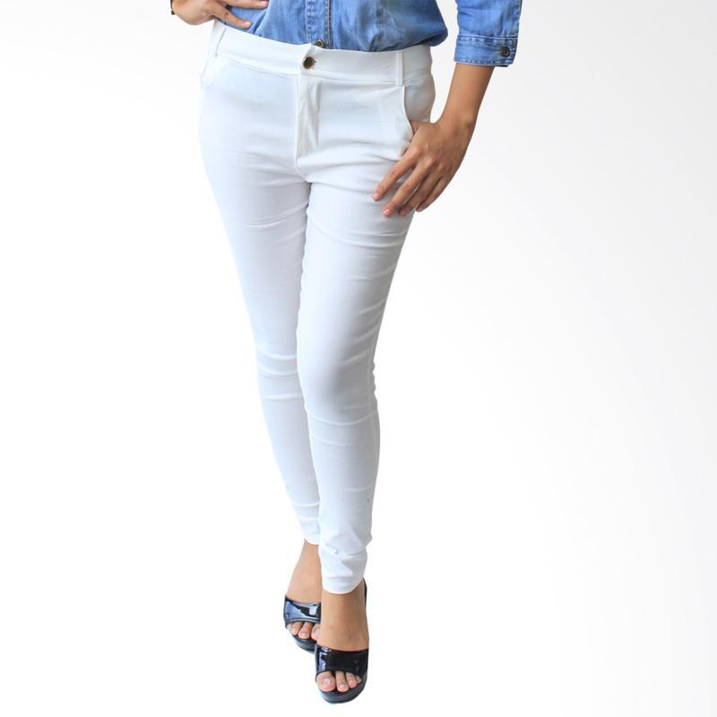 Aily 206 Celana Jegging Denim Wanita - Putih