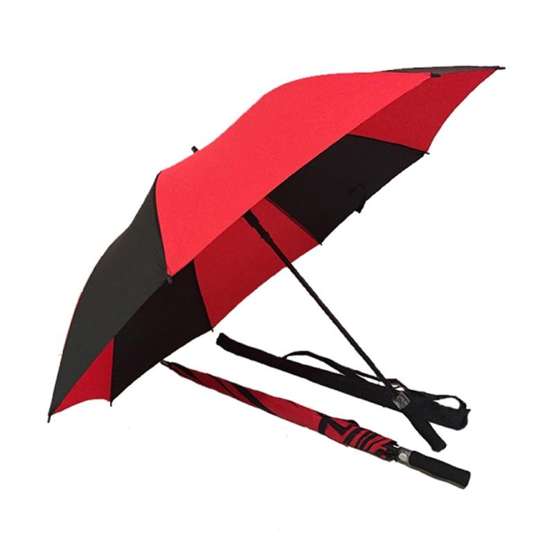 Edelweiss Premium Rangka Fiber Payung Golf - Black Red
