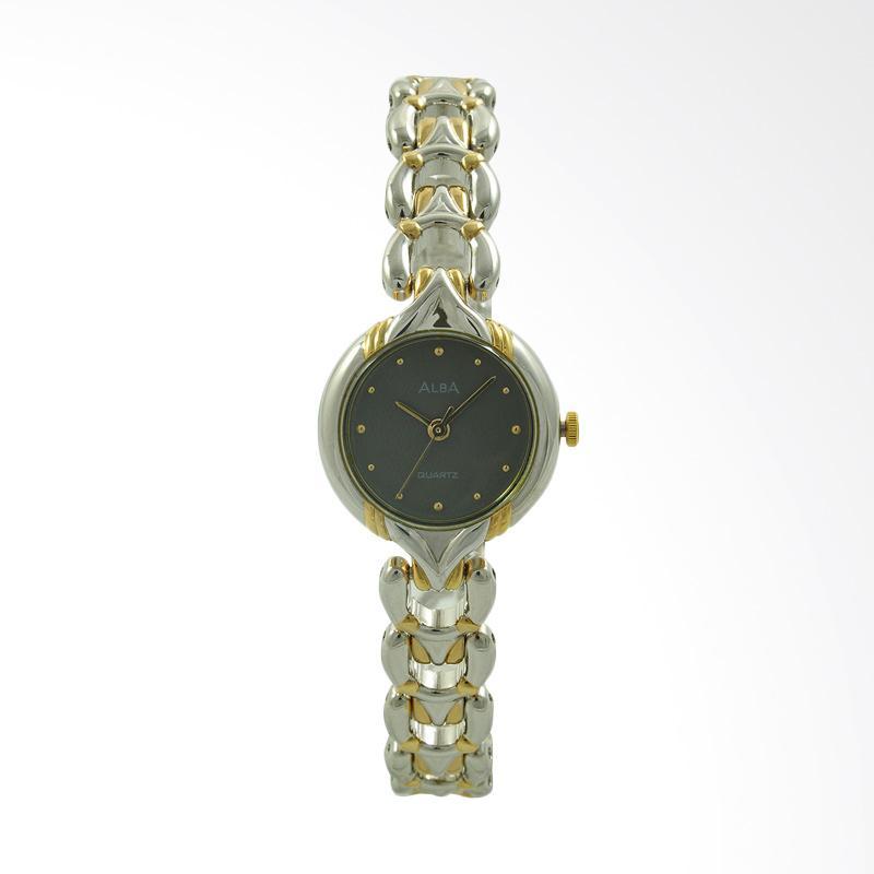 ALBA Jam Tangan Wanita - Silver Gold Grey - Stainless Steel - ATQN08
