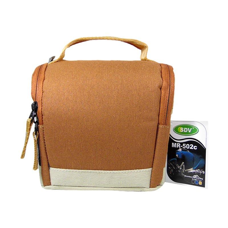 SDV MR-502C Canvas Tas Kamera Mirorrless - Coklat