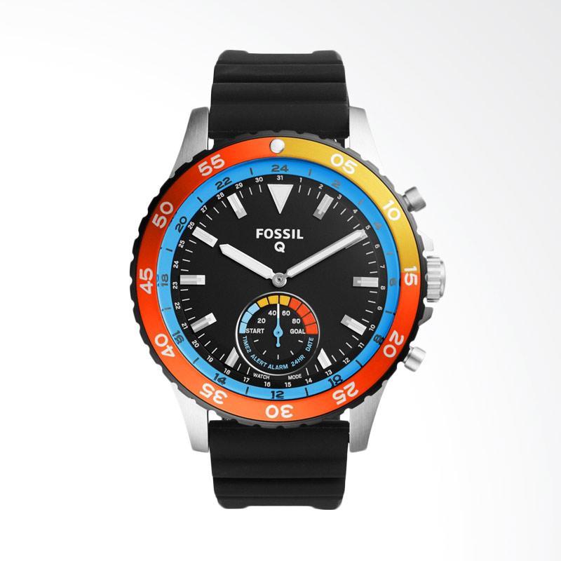 harga Fossil Sam Sport Q Crewmaster Ss Black Round Dial Smart Analog Black Silicone Strap Jam Tangan Pria - Black FTW1124 Blibli.com
