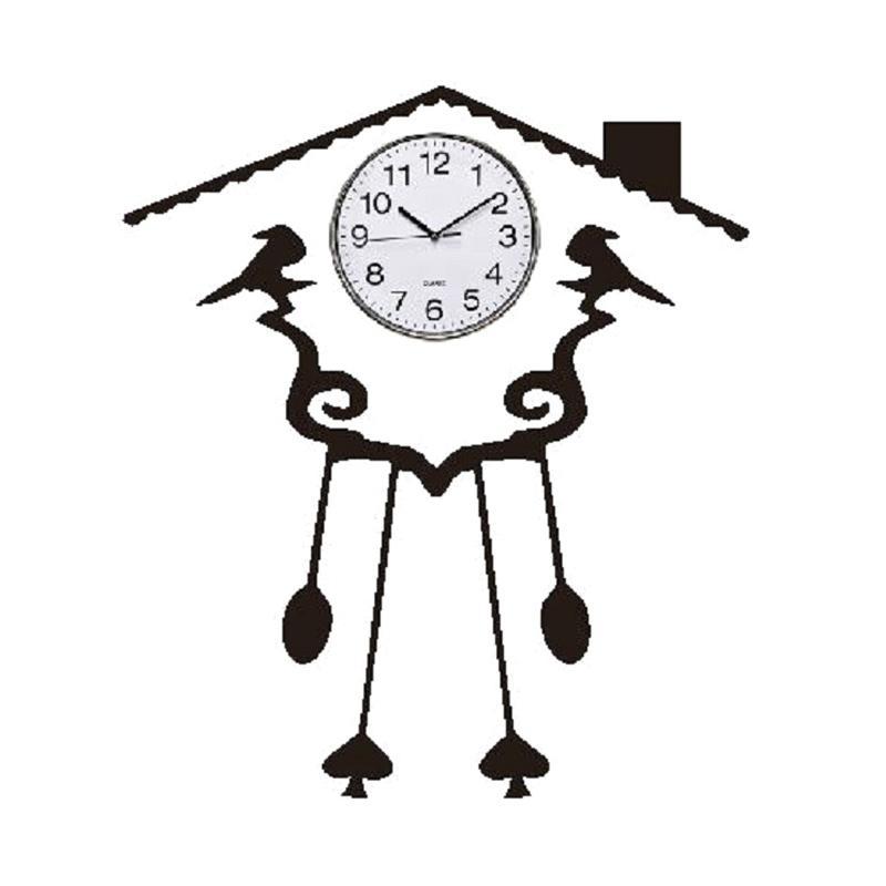 OEM Rumah Burung Cutting Sticker Wall Stiker Jam Dinding Dekorasi