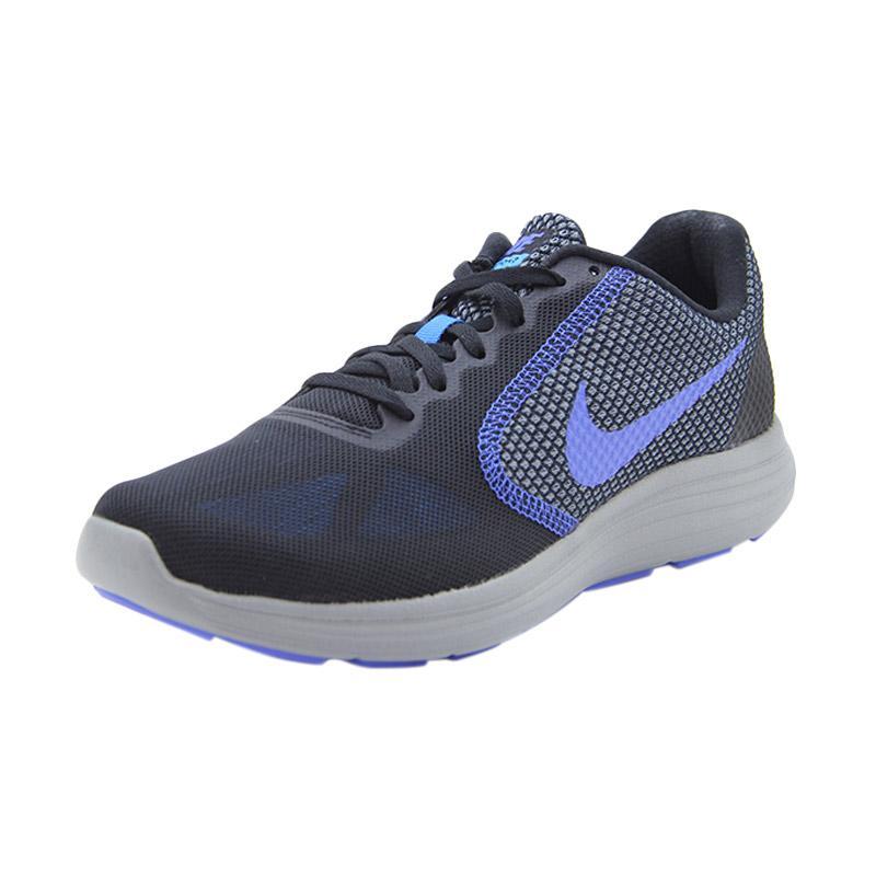 Nike Revolution 3 Running Men's Shoes Sepatu Olahraga Lari Pria - Grey Marle 819300010
