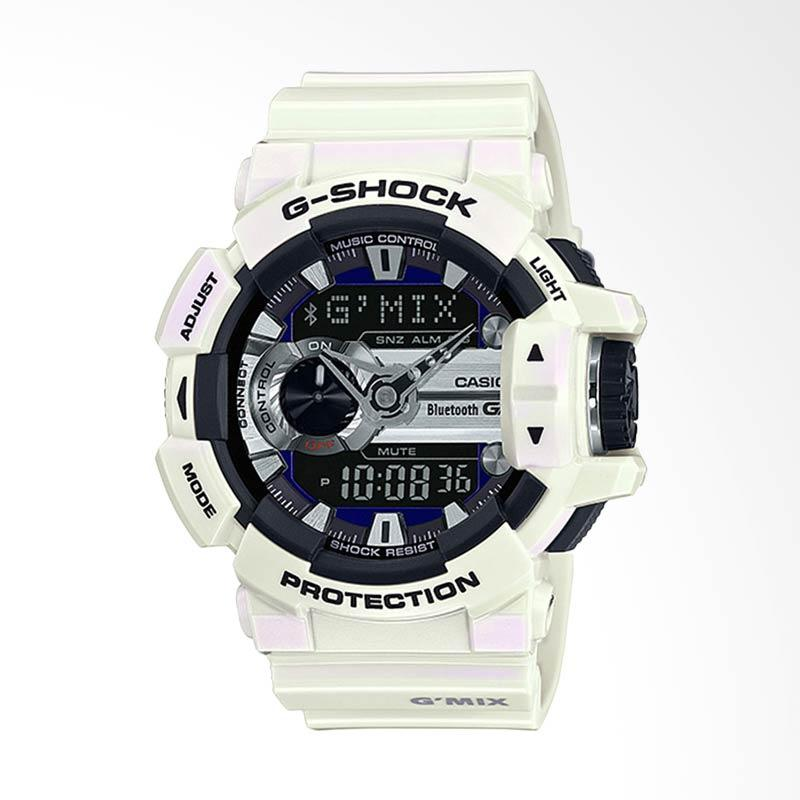 CASIO G-Shock GMIX Bluetooth Smart Jam Tangan Pria - Black White GBA-400-7CDR
