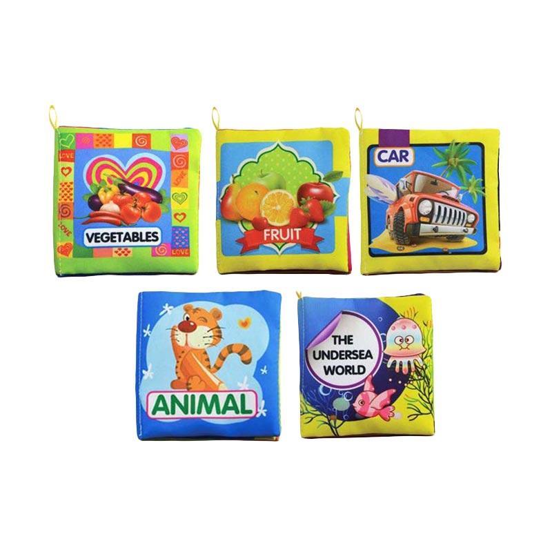 harga Best Baby Toy Soft Books Mainan Edukasi Buku Kain Bayi [5 pcs/set] Blibli.com