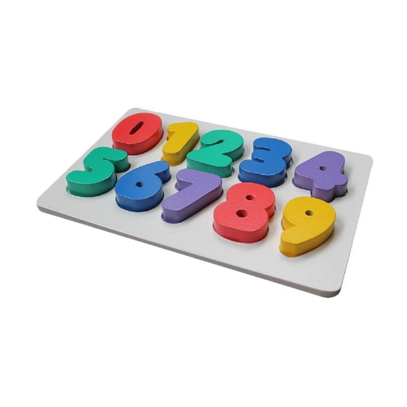 Istana Bintang Chunky Puzzle Angka Mainan Kayu