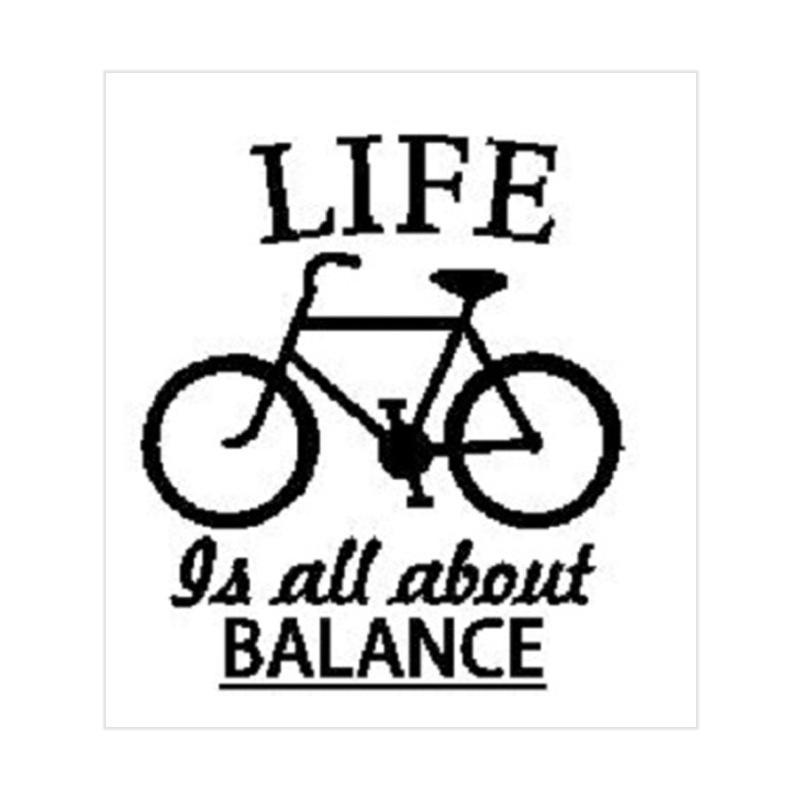 OEM Quotes Life Balance Bicycle Wall Sticker Dekorasi Dinding