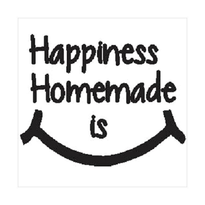 OEM Quotes Happiness is Homemade Wall Sticker Dekorasi Dinding