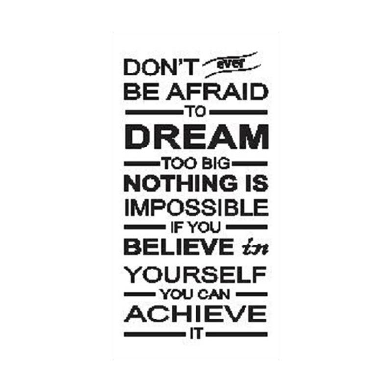 OEM Quotes Don't Afraid Dream Wall Sticker Dekorasi Dinding