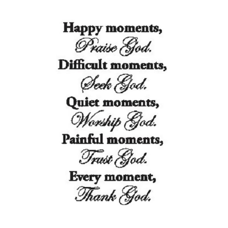 OEM Quotes God in Every Moment Wall Sticker Dekorasi Dinding