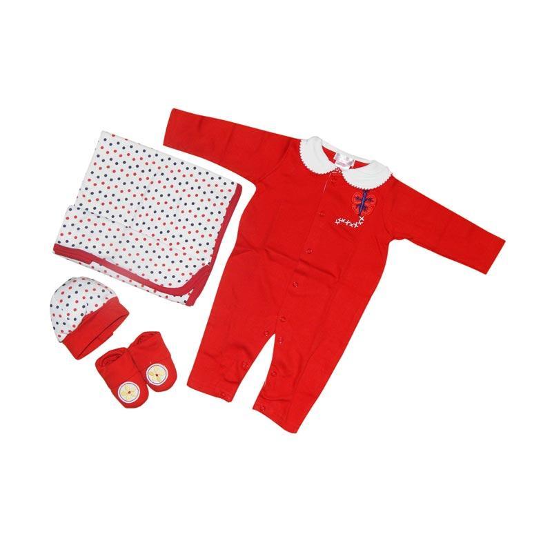 Wonderland Hanger 4in1 Polka Gift Set Perlengkapan Bayi