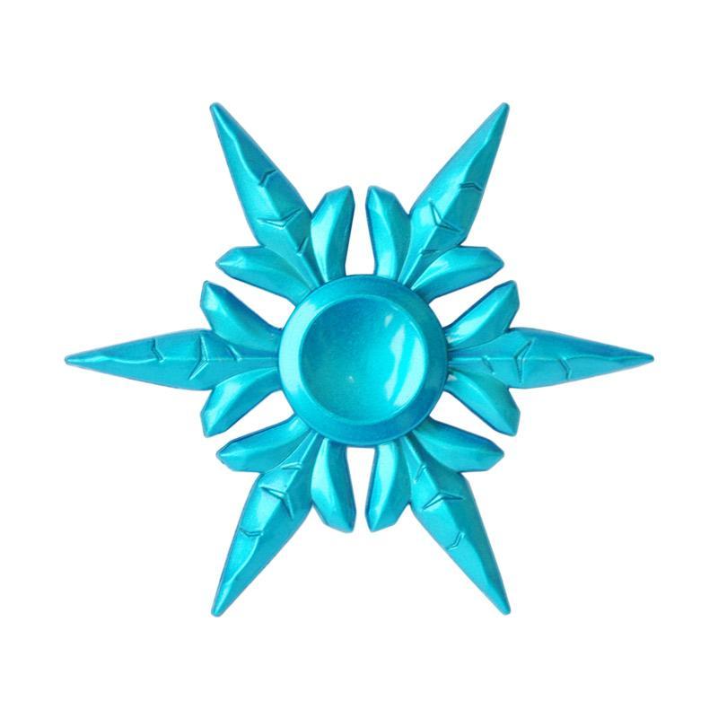 SMILE Shuriken Naruto Snow Flake Metal Fidget Hand Spinner - Blue Metalic