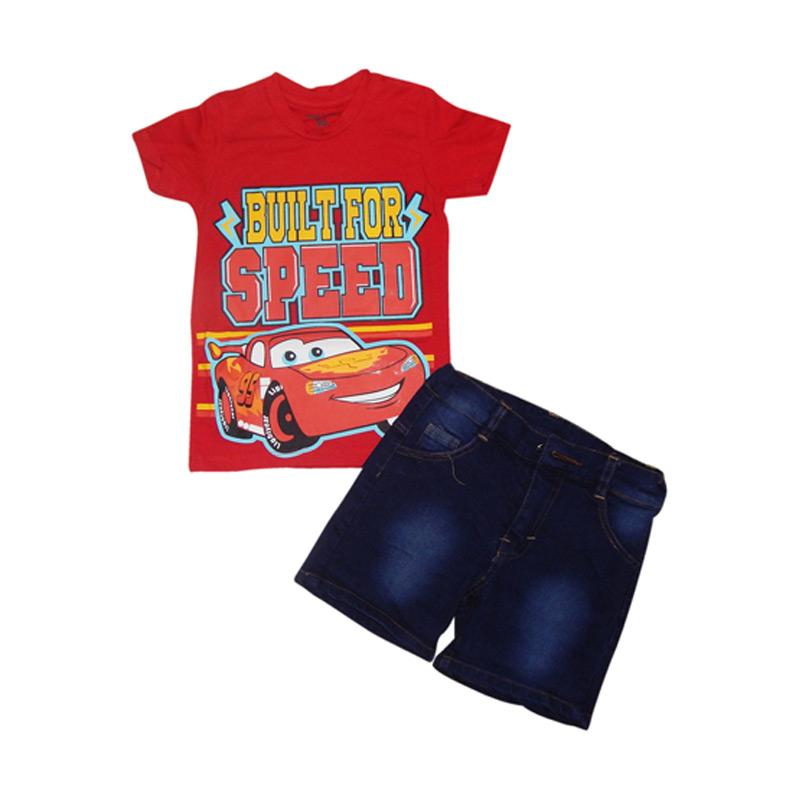 Hello Mini Setelan Anak Jeans Cars - Combine