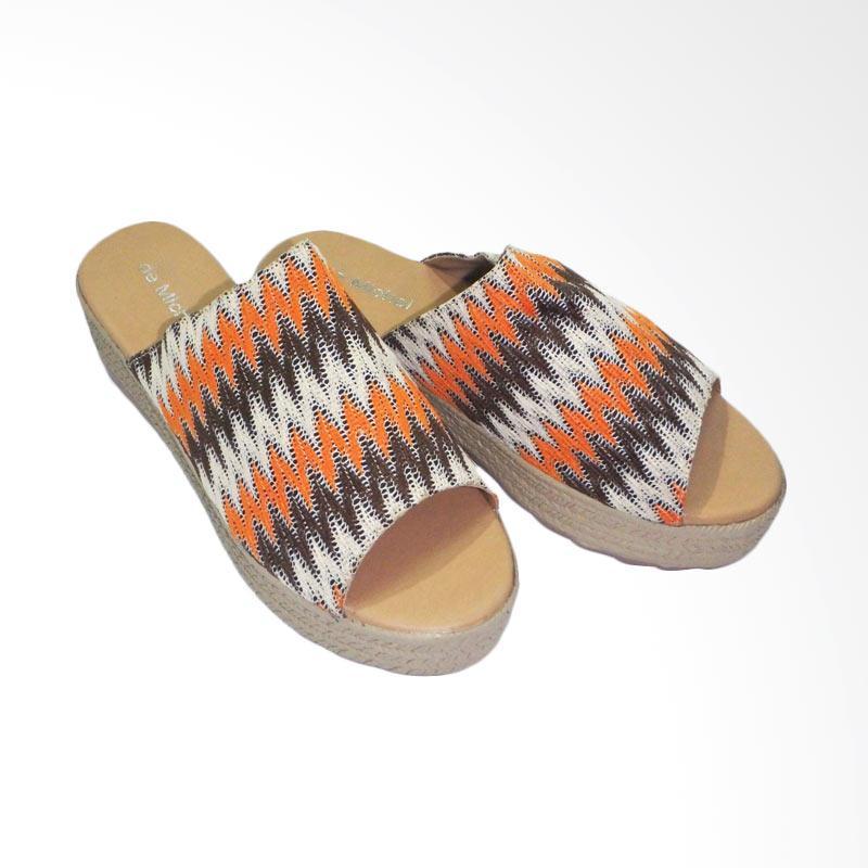 Aerilyn sandal wedges wanita brukat capucino