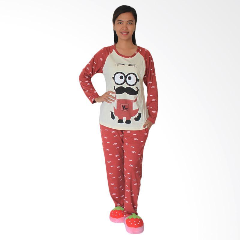 Aily 2097 Setelan Baju Tidur Wanita - Merah