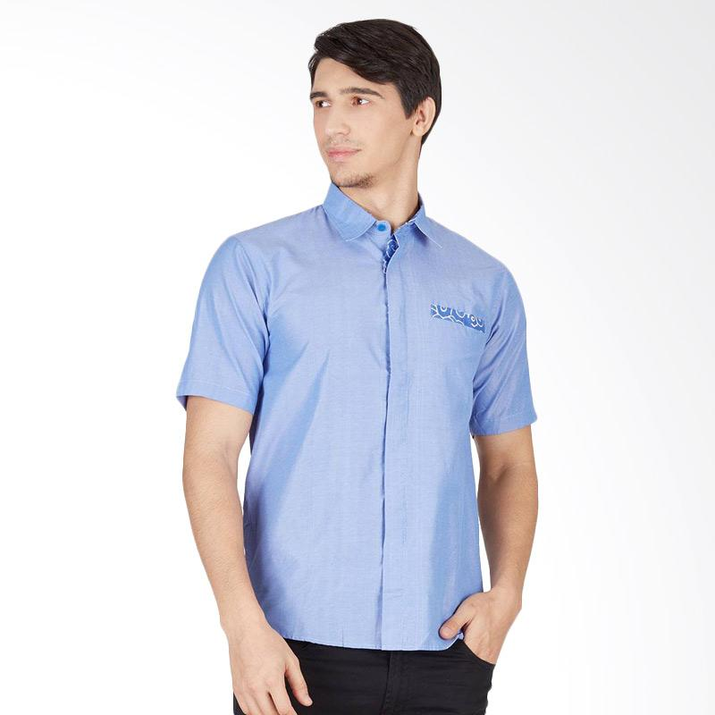 Enzy Batik Bright Cloudy Shirt - Blue