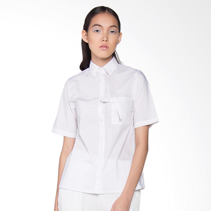 Spek Harga Danjyo Hiyoji ARC 023P Yoshi Shirt Kemeja Wanita - Offwhite Terbaru